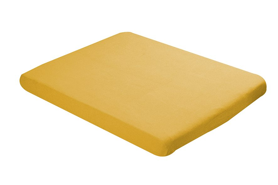 Fitted sheet 60x120cm yellow ochre