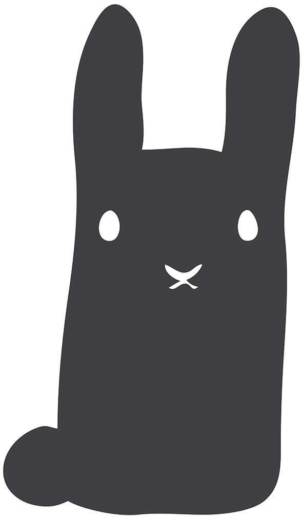 Chalkboard sticker rabbit