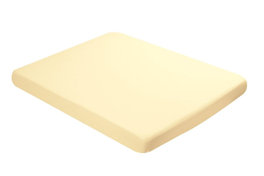 Fitted sheet 75x95cm yellow