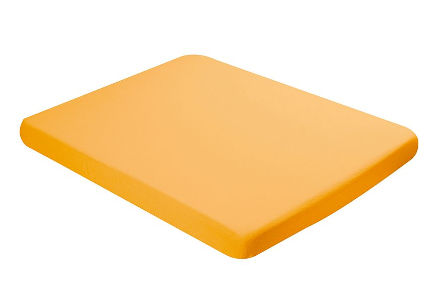 Fitted sheet 70x140cm bright yellow