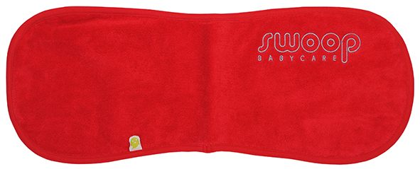 Burp cloth red