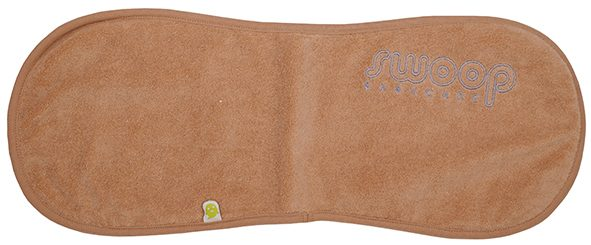 Burp cloth ecru