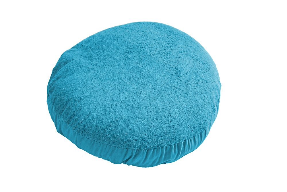 Cover pouf turquoise