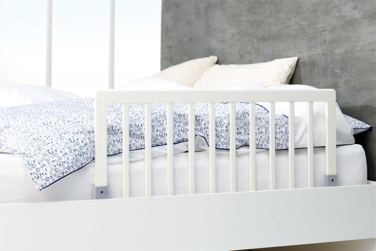 Bed rail wood