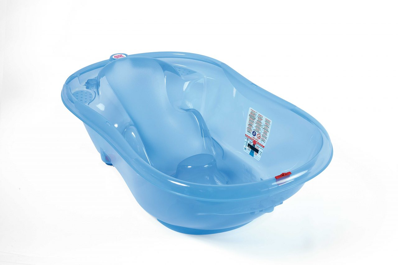 Baby bath Onda Blue transparent