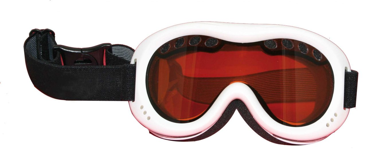 Snow goggles white