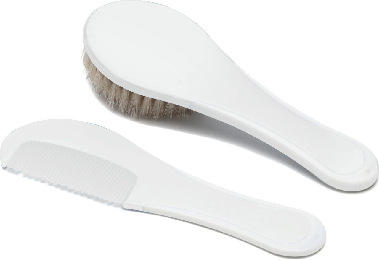 Brush and comb White