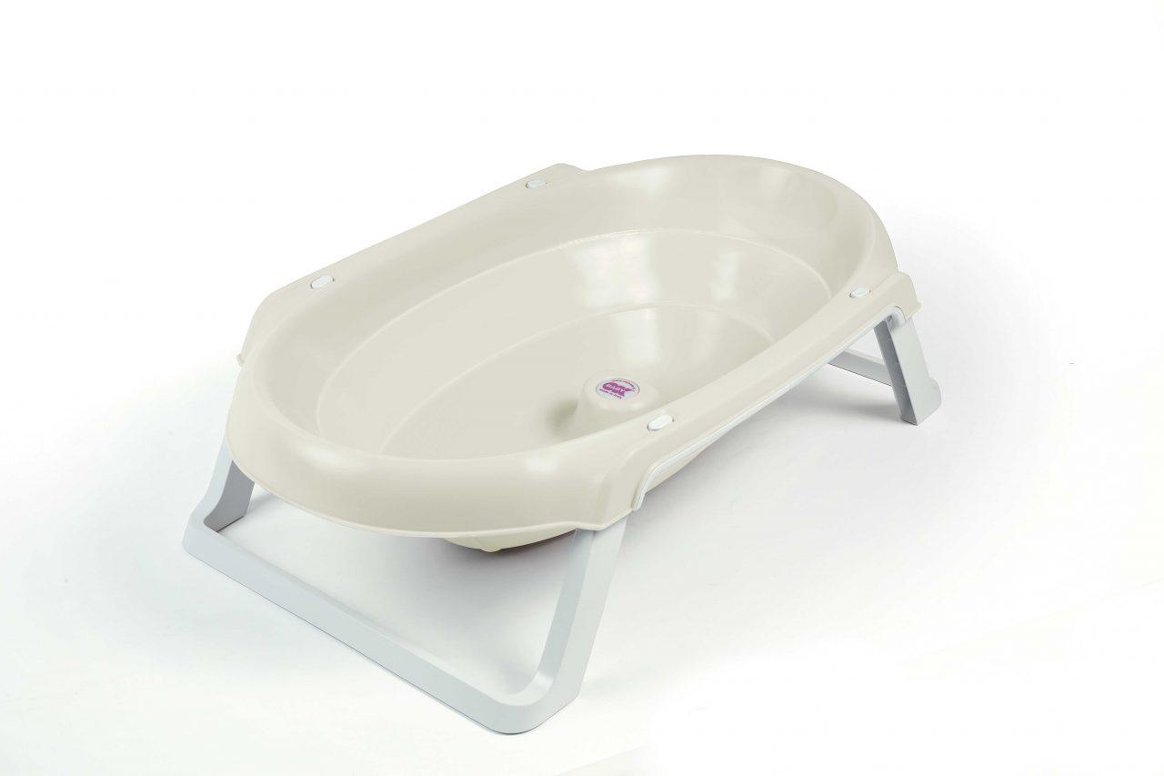 Baby bath Onda Slim Pearl white