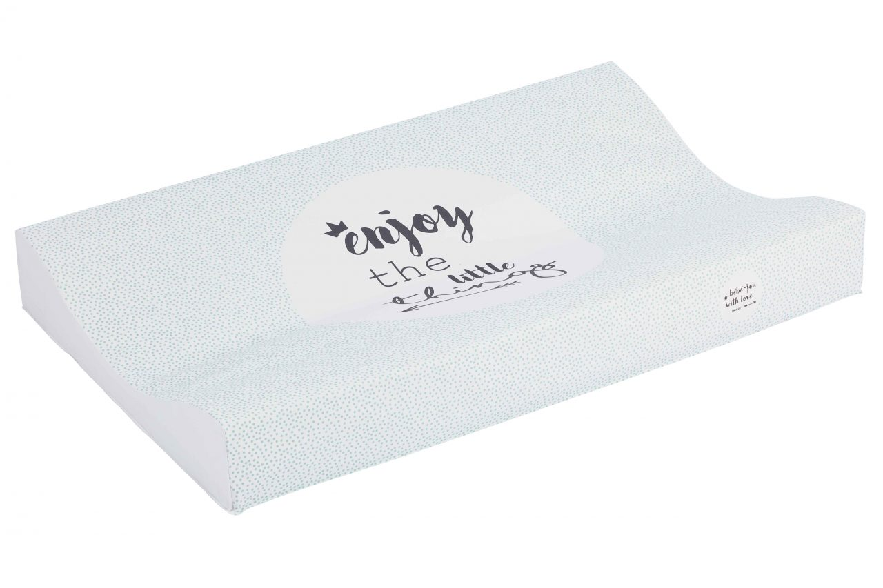 Changing pad 72x44cm Lucky Quotes Mint