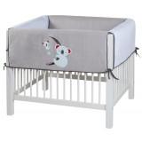 Crib bumper Koala Grey