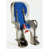 Bike seat 10+ grey/blue