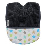 Pocket bib star anthracite