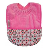 Pocket bib hearts pink