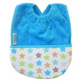 Pocket bib star aqua