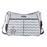 Diaper bag Chevron Grey