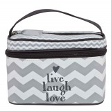 Beautycase Chevron Grey