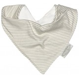 Bib Bandana jersey grey stripes