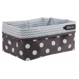 Nursery basket Grey Dots