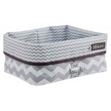 Nursery basket Chevron Grey