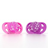 Pacifier 0-6m Pink/purple