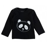 T-shirt Panda black
