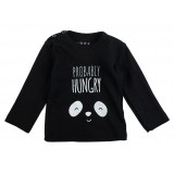 T-shirt Hungry Panda black