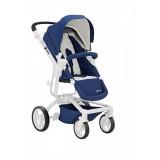 Spider stroller blue + white frame